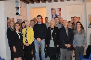 Une partie du Collectif Racine 77 réuni le vendredi 15 avril 2016 à Melun.