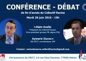 Conférence-Débat avec Alain Avello et Aymeric Durox, mardi 28 juin à Melun