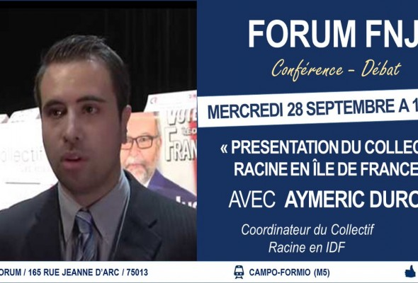 Présentation du Collectif Racine en IDF par son coordinateur, Aymeric Durox