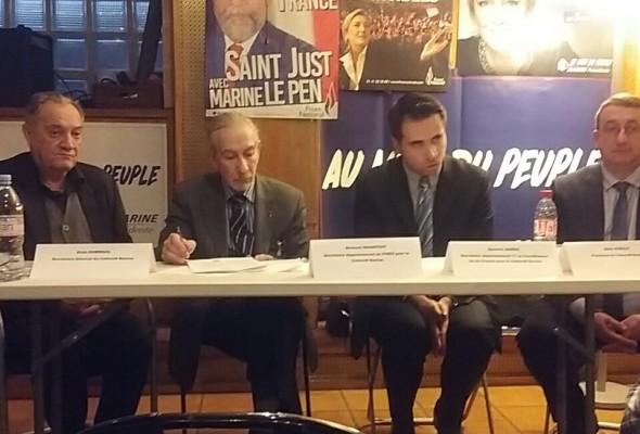 Conférence du Collectif Racine d'IDF, en présence du coordinateur IDF Aymeric Durox et du président Alain Avello