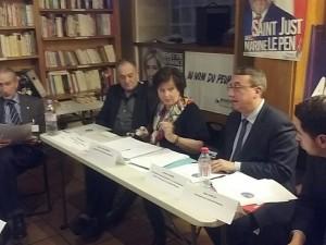 Alain Dubreuil, SG du CR, Marie-Christine Desbois, spécialiste de la formation professionnelle, et Alain Avello, président du CR.